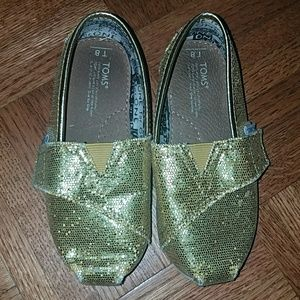 Gold sequin tiny Toms